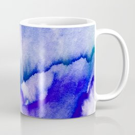 Watercolor texture - electric blue Coffee Mug