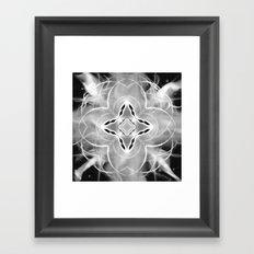 Silver Ornament at Night Framed Art Print