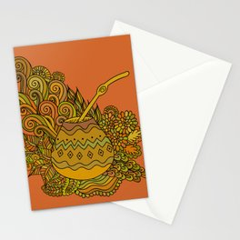 Yerba Mate In The Gourd Stationery Cards