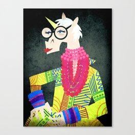 Iris the Unicorn of Fashion Canvas Print