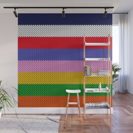Knitted colorful stripes  Wall Mural