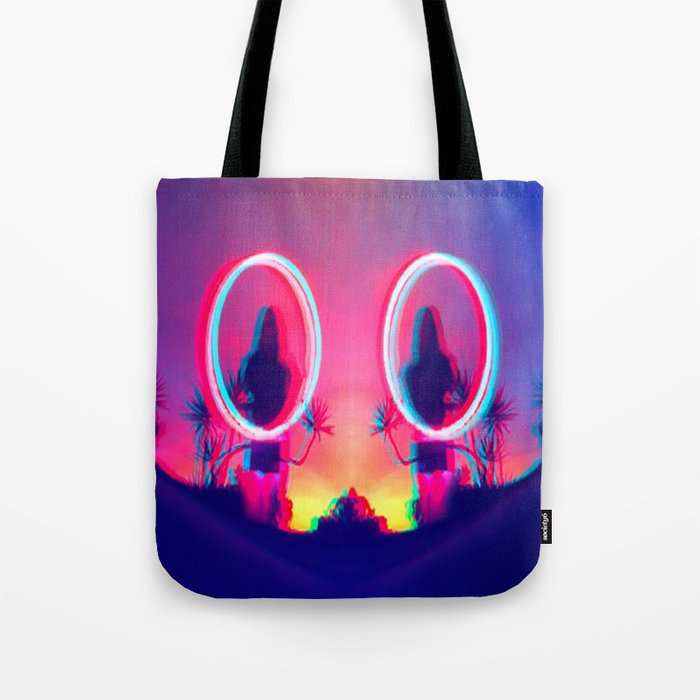 80's Sunset Tote Bag