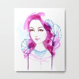 Giselle. Watercolor painting Metal Print