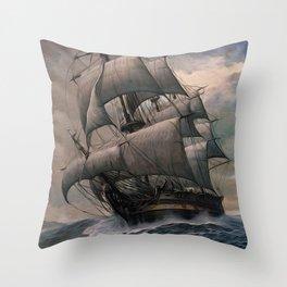 Black Sails Throw Pillow