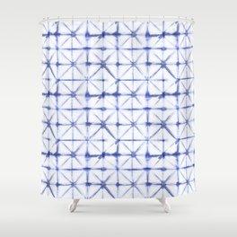 Shibori Folds Shower Curtain
