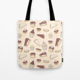 Chocolate Pastry Pattern Tote Bag