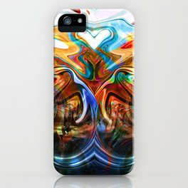liquified space iPhone Case