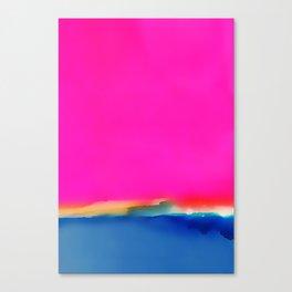 Magenta Horizon Canvas Print