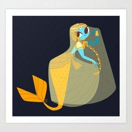 Indian mermaid princess nº1 Art Print