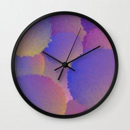 Purple Nuclear Fusion Wall Clock