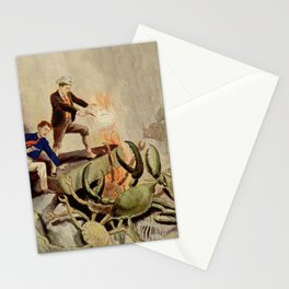 Giant crabs attack Stationery Cards