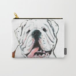 English bulldog // White  Carry-All Pouch