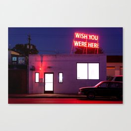 Wish You Were Here Canvas Print