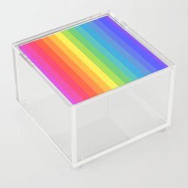 Solid Rainbow Acrylic Box