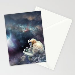 Space Gibbon Stationery Cards