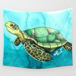 Wild Animals, Sea Turtle Wall Tapestry