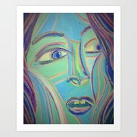 Why are they staring at me? Art Print