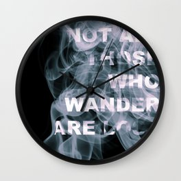 Smoke Quote Wall Clock
