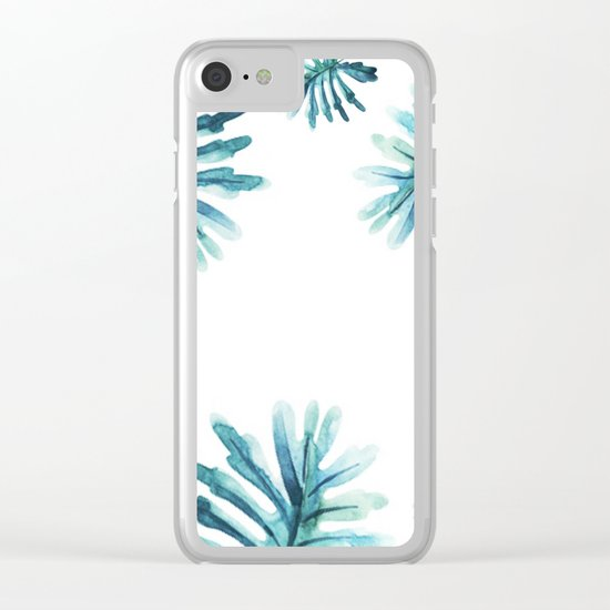 Watercolor botanic pattern Clear iPhone Case