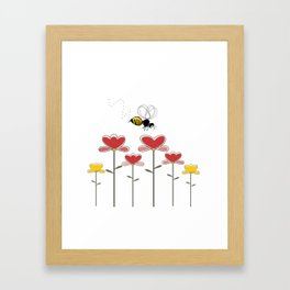Bee loved Framed Art Print