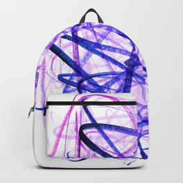 Violet Chaos Expressive Lines Abstract Backpack