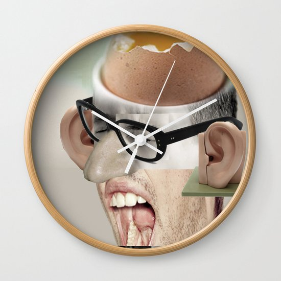 """""""a yawn is a silent shout"""" Wall Clock"""