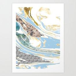 Light Blue Channels #2 Art Print
