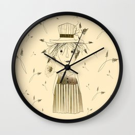 Betty Lou In Wheat Wall Clock