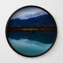 Mountain in the Mirror Wall Clock
