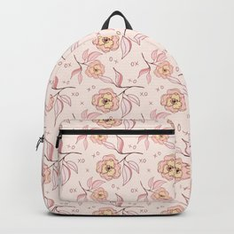 Pink Peony Kiss Floral Pattern Backpack