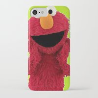 duvet cover iPhone & iPod Cases featuring ELMO DUVET COVER by aztosaha