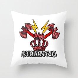 Shango Sango Orisha Throw Pillow