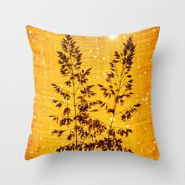 Delicate grasses - light and shadow #1 Throw Pillow