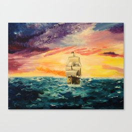 Pirating by Sunset Canvas Print