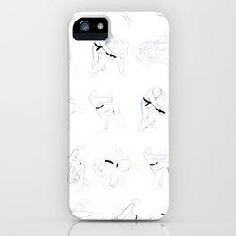 Judo Throw Pattern iPhone Case