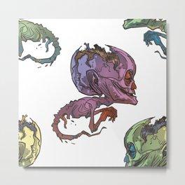 elderly waterhead fetus zombie Metal Print