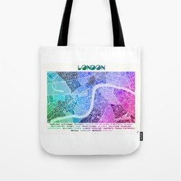 London Map (Colour Gradient) Tote Bag