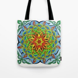 Fire Renewal Mandala Celtic Knot Mandala Art Tote Bag