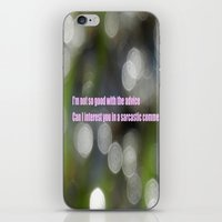 sarcasm iPhone & iPod Skins featuring Bokeh Sarcasm by Casey J. Newman