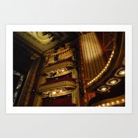 theatre Art Prints featuring Theatre by Julia Rose