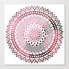Nebula Snake Mandala Canvas Print