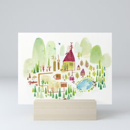 House in the Forest Mini Art Print