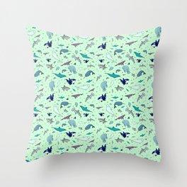 Sea Animals Throw Pillow