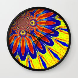 The Modern Flower Primary Colors Wall Clock