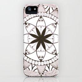 Mandala of Jasmine (White) iPhone Case