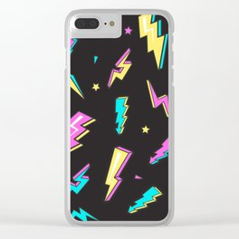 Retro Thunders Clear iPhone Case