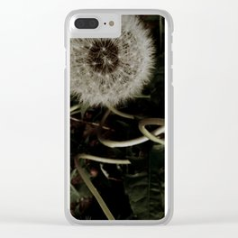 Dandelion Twists Clear iPhone Case