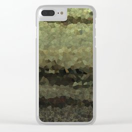Wood and stone layers abstract pattern Clear iPhone Case