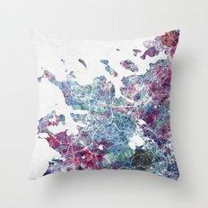 Reykjavik map Throw Pillow