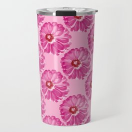 Abstract Photo Large Pink Flower Travel Mug